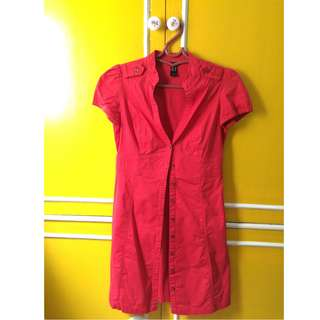 Red Office Formal Dress
