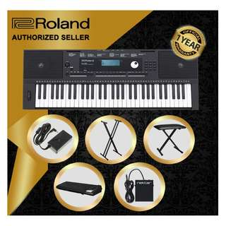 The Pianist Studio   Authorized Seller - Roland E-X20 61 Keys Arranger Keyboard Piano with Keyboard Stand and Keyboard Bench and Sustain Pedal and Gator Dust Cover GKC1540 Singapore Sale