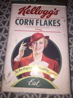 Vintage Kellogg's Corn Flakes(METAL CONTAINER)