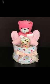 Baby girl/boy diaper cake