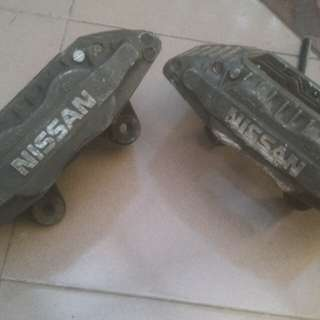4pot Brake Nissan Skyline sesuai untuk Grandlivina Impul Almera B13 B14 Y10 A31 N16 Sentra Pulsar