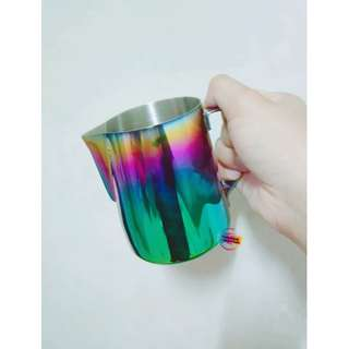 Rainbow Colorful Stainless Steel Milk Frothing Steaming Pitcher