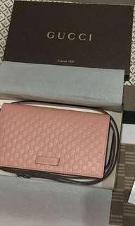 Gucci micro guccisimma in light pink