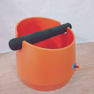 Large Coffee Espresso Knock Box (Orange & Black)