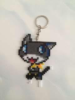 Morgana from Persona 5 Perler beads keychain