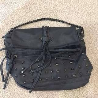 Alexander McQueen inspired gray bag