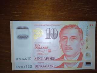 $10 notes in order