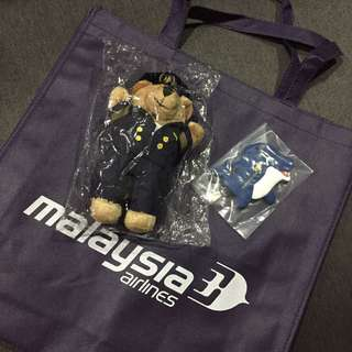 Malaysia Airlines Teddy Bear Pilot