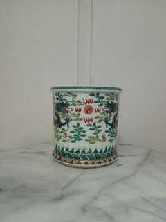 Republic Period Brush Washer Pot Height 18cm Diameter 21cm Perfect