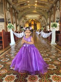 Flower girl gown (Purple Gown 3T ***Slightly Negotiable***