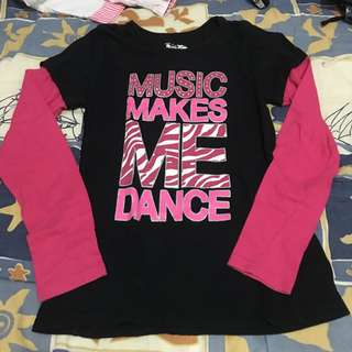Music Makes Me Dance Long Sleeved Shirt