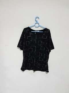 Plus Size Black Top With Details