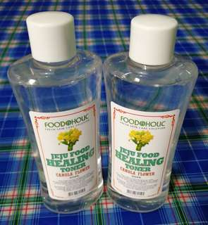 [FOODAHOLIC] Jeju Food Healing Toner+Essence+Cleansing Water 300ml (Canola Flower)