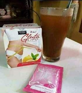 Gluta Lipo 12in1 Slimming & Whitening Juice/Coffee