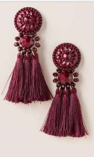 Tassel Earrings Lavender