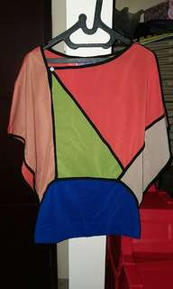 Colorful square blouse