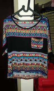Colorful tribal blouse