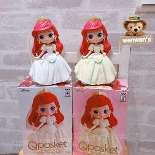 【Wenwens】正版 代理 日本 迪士尼 Qposket 小美人魚 婚紗 愛麗兒 婚紗版 景品 公仔 A款 單售價