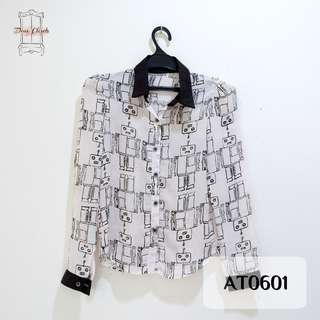 White Robot Long Sleeve Shirt