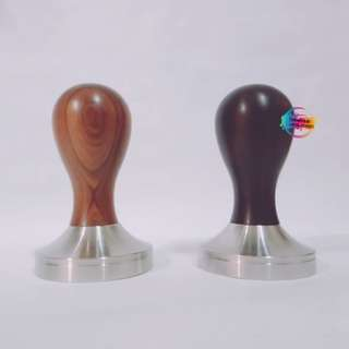 Yellow Rosewood / Ebony Coffee Espresso Flat Base Tamper 51mm 58mm