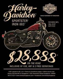 Harley Davidson Iron 883 limited stock!!!