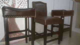 Leather set chair bar stool