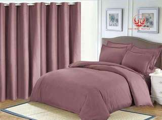 bedsheet with comforter & curtain set