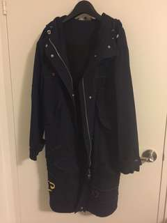 Zara hooped parka coat