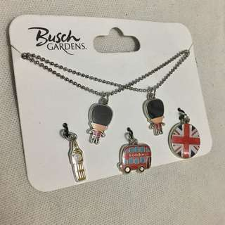 London themed necklace pack