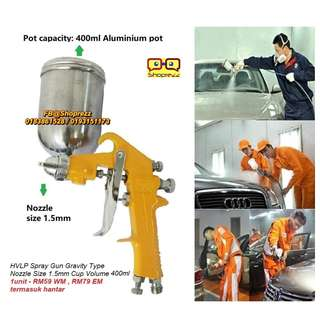 HVLP Spray Gun Gravity Type  (Nozzle Size 1.5mm, Cup Volume 400ml)