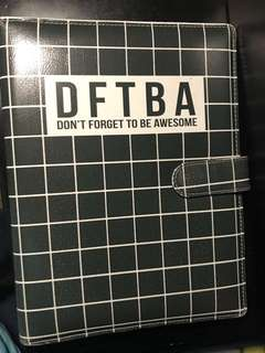 dont forget to be awesome binder (DFTBA)