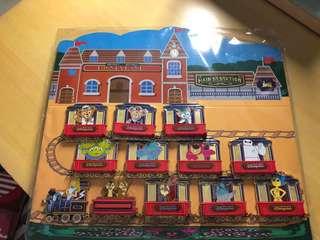 Disney pin 迪士尼徽章 火車1set (不散放)