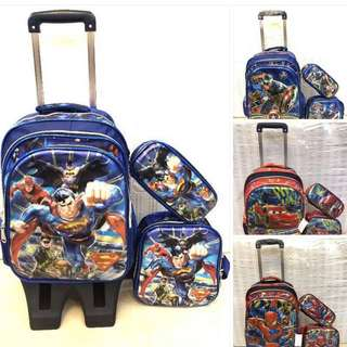 3in1 trolley backpack set