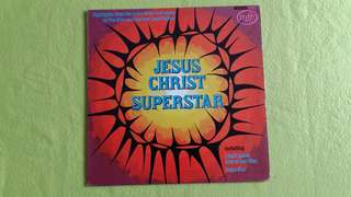 JESUS CHRISTMAS SUPERSTAR . highlights from the rock opera ( by : Tim Rice & Andrew Lloyd Webber) vinyl record
