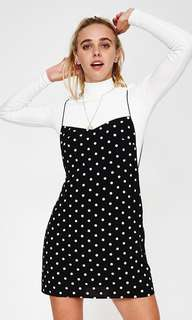 Spot Maddie Backless Mini Dress - Black/White