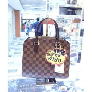 LV Louis Vuitton Brown Damier Shoulder Handbag Hand Bag 路易威登 啡色 格仔 棋盤花 手挽袋 手袋 肩袋 袋
