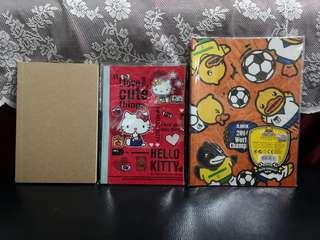 [包郵]空白記事簿 / Hello Kitty 記事簿 / B. Duck 記事簿
