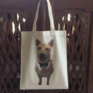 Customised furkid photo tote bag
