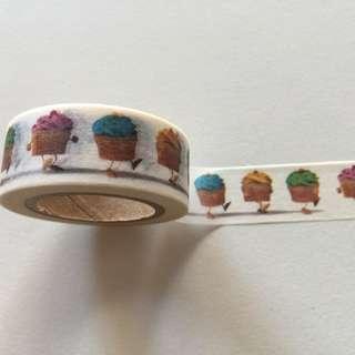 Dancing Cupcakes GJ96 Washi Tape 15mm x 10m