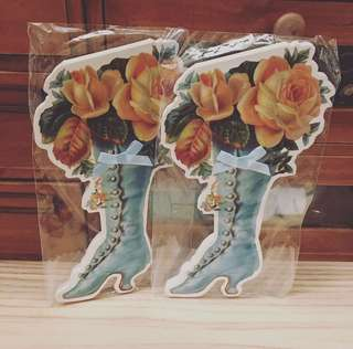 Vintage Antique Memo Pad (Rose Shoes) 古典花+鞋型 便條簿