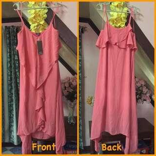 Ruffle Front Elegant Dress