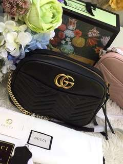 Gucci GG Marmont 2.0 Medium Quilted Camera Bag