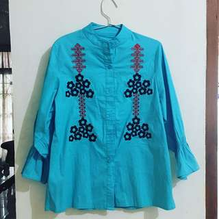 Sierra blue blouse