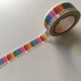 Colourful Popsicle Ice Pops GJ97 Washi Tape 15mm x 10m