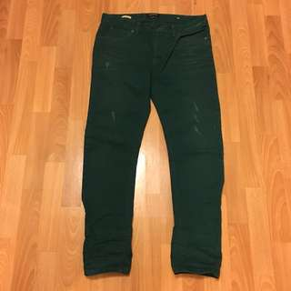 """限時🈹️價:Scotch & Soda墨綠色牛仔褲腰圍32"""" Dark green jeans waist 32"""""""