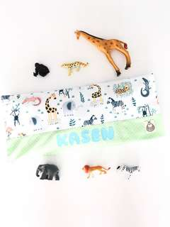 Safari Friends Personalised Baby Beansprout Husk Pillow