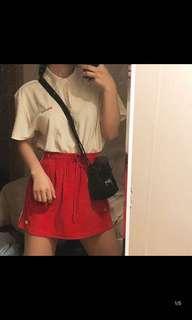 MSCHF red jogger skirt