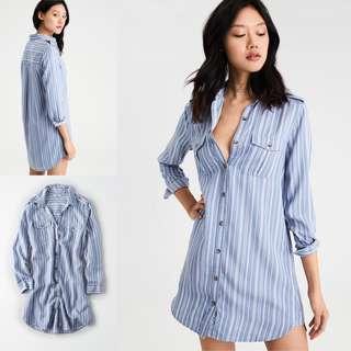 🚚 #全館五折🔥 American Eagle Twill shirt Dress 襯衫條紋洋裝