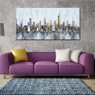 🚚 new york skyline oil painting