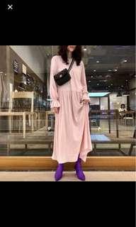 歐洲粉嫰長裙